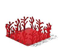 Салфетница плоский Mediterraneo красная