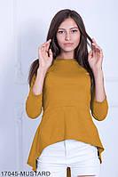 Жіноча блузка-туніка  Harmony 17045-MUSTARD M Гірчичний