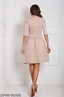 Жіноче плаття  Savage 20498-BEIGE S Бежевий