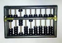 Счеты абакус соробан деревянные + шкатулка ментальная арифметика деревянные стержни 9 рядов  20*13,5*5 СМ