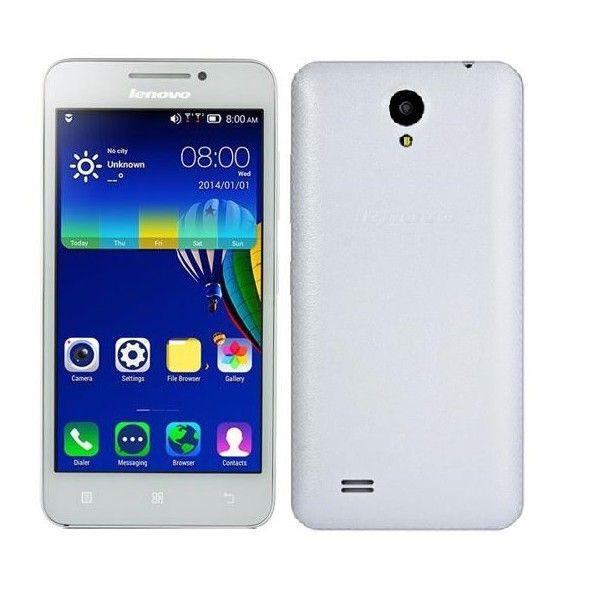 Lenovo A3600D (3G) экран 4.5 ,4 ядра, 2sim, Android 4.4.2, 5.0Мp - white