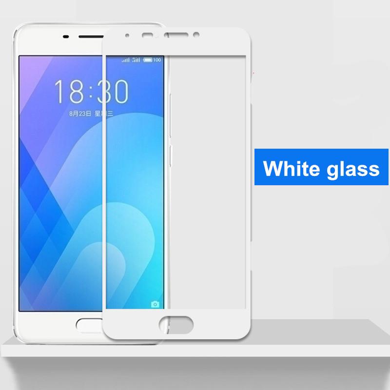 Защитное закаленное стекло с белой рамкой для Meizu M6 Note