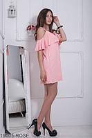 Жіноче плаття  Ariana 19005-ROSE XS-M Рожевий
