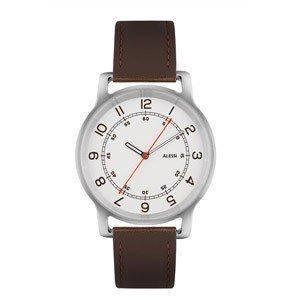Часы l'orologio мужские на кожаном ремне коричневого цвета, фото 2