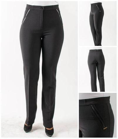"""Женские брюки """"Жанетта"""" в квадратик черного цвета, фото 2"""