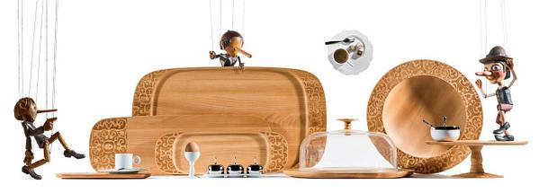 Поднос для сервировки деревянный Dressed 65 см, фото 2
