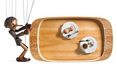 Поднос для сервировки деревянный Dressed 65 см, фото 3