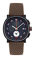 Часы мужские Tic15 кожаный ремешок коричневый циферблат