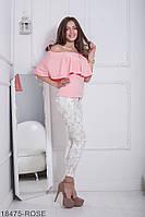 Жіноча блузка  Milena 18475-ROSE S Рожевий