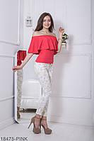 Жіноча блузка  Milena 18475-PINK S Рожевий