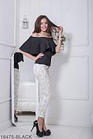 Жіноча блузка  Milena 18475-BLACK S Чорний