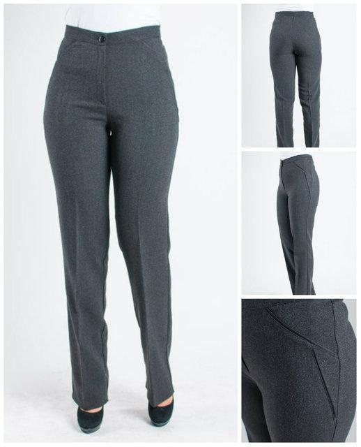 """Женские брюки """"Жанетта"""" серого цвета."""