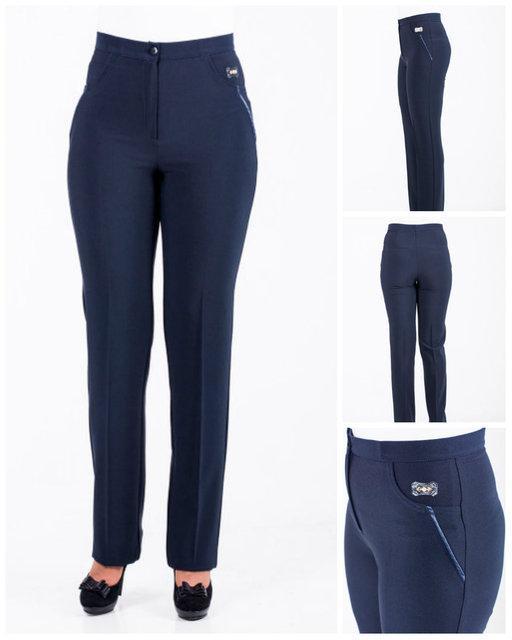 """Женские брюки """"Влада"""" синего цвета."""