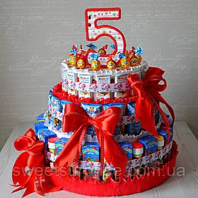 "Торт в детский сад из конфет и сока ""Hello Kitty"""