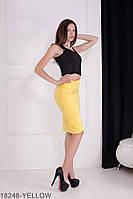 Жіноча спідниця  Olivia 18248-YELLOW XL Жовтий