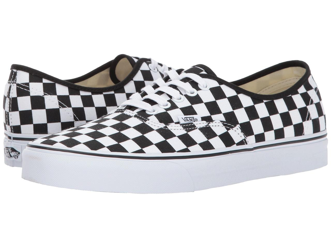 Кроссовки Кеды (Оригинал) Vans Authentic™ (Checkerboard) Black True White db08c588abe