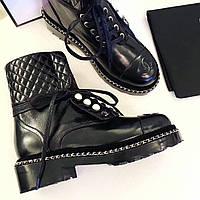 Женские стильные ботинки Chanel