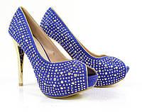 Жіночі туфлі  Brilliant 17706-BLUE 40 Синій