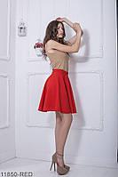 Жіноча спідниця сонце-кльош  Warence 11850-RED XS Червоний
