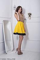 Жіноча спідниця сонце-кльош  Warence 11850-YELLOW XS Жовтий