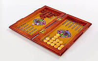 Нарды, шахматы 2 в 1 набор настольных игр деревянные BAKU XLY730-B