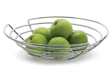 Плоская корзина на фрукты Wires 36 см