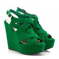Жіночі босоніжки  Hard 4934 37 Зелений