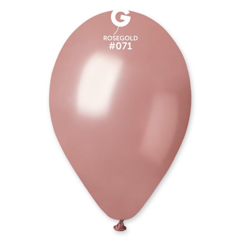 Латексные воздушные шары GM90_71 Gemar Италия, расцветка: металлик(перламутр) rose gold розовое золото, Диамет