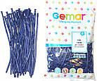 Латексные воздушные шары Gemar D4, расцветка: Пастель темно-синий, Шар для моделирования, шар конструктор 260 , фото 3