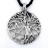 Кулон талисман дерево жизни с пентаграммой викканская