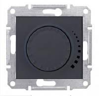 Светорегулятор индуктивный поворотно-нажимной 25-325 Вт/ВА Sedna Графит (Шнейдер Электрик Седна), фото 1