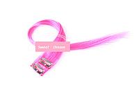 Прямые фантастические красочные накладные пряди на заколках-клипсах, 2 шт в упаковке, цвет - розовый