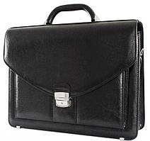 Элегантный деловой портфель из кожзама  Jurom 0-37-111 черный