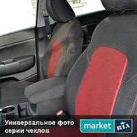 Чехлы для Ford Transit, Черный + Красный цвет, Автоткань