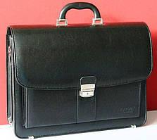 Элегантный деловой портфель из кожзама Jurom 0-41-111 черный