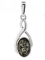 Подвеска с янтарем серебряная, фото 1