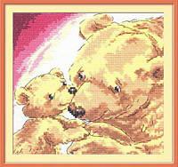 Набор для вышивания крестом Чудесная Игла 17-05 Медведица с медвежонком