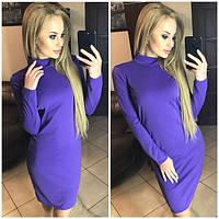 Женское облегающее короткое платье под горло, фото 1