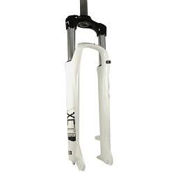 """Велосипедна вилка SR Suntour SF15-XCM 29"""" Disc, 100мм , шток 255 мм, белая"""