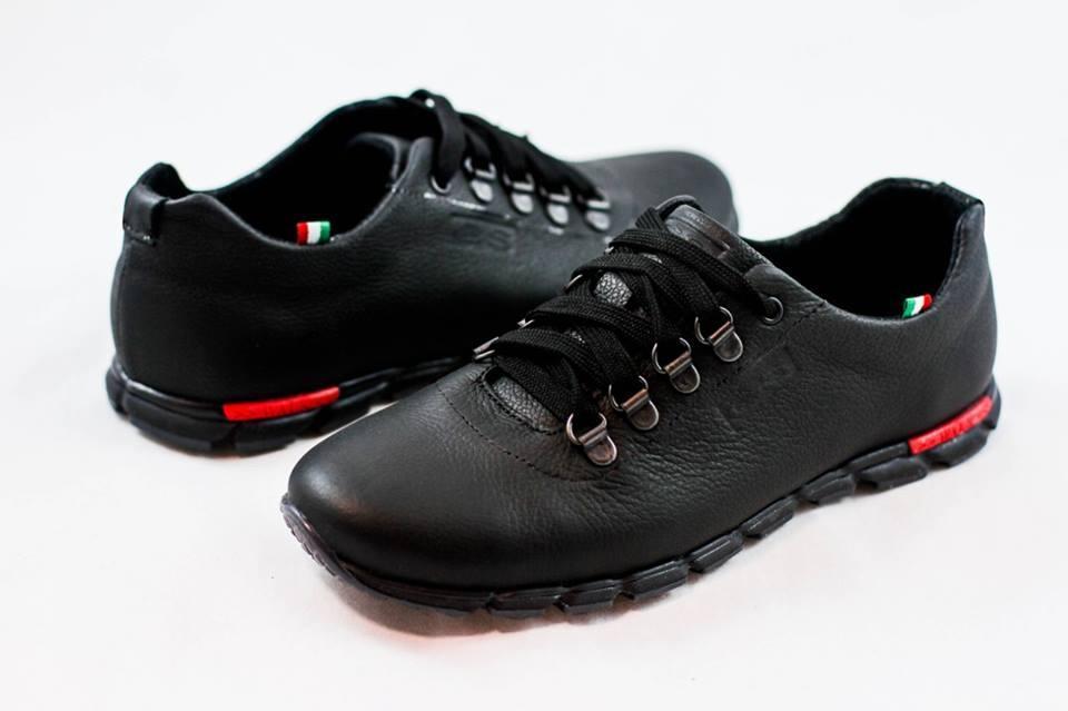 Мужские кожаные туфли кроссовки черные размеры 40, 41, 42, 43, 44, 45