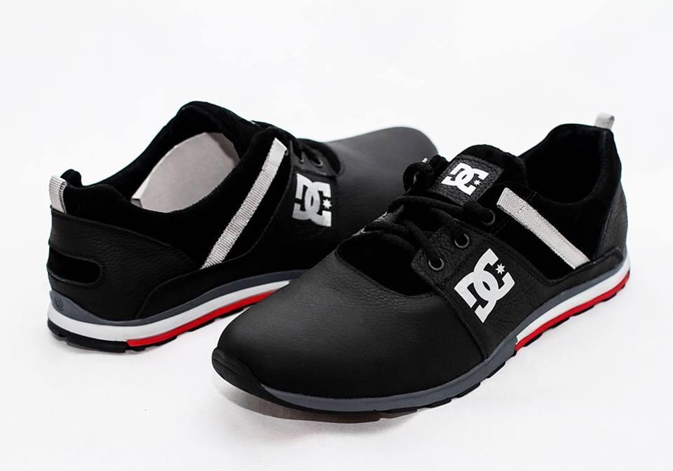 Мужские кожаные туфли кроссовки GG черные размеры 40, 41, 42, 43, 44, 45
