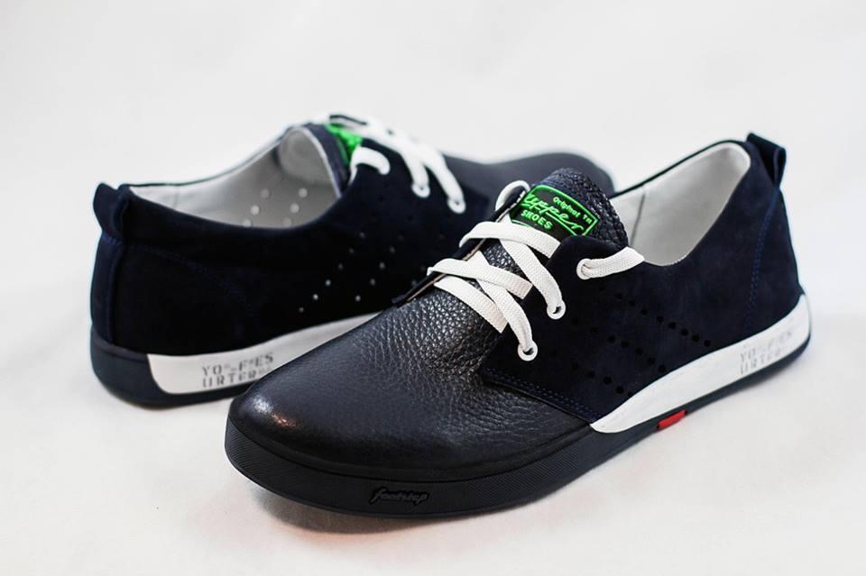 Кожаные мужские туфли кроссовки черные размеры 40, 41, 42, 43, 44, 45