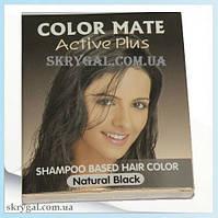 Шампунь-краска, для волос черная. COLOR MATE