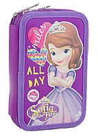 Пенал твердий подвійний Sofia purple (Принцеса Софія) 1 Вересня