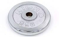 Блины (диски) хромированные d-30мм (5 кг) ТА-1452