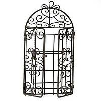 Металлическая фото рамка Ворота, коричневая, 9,5х18,5 см