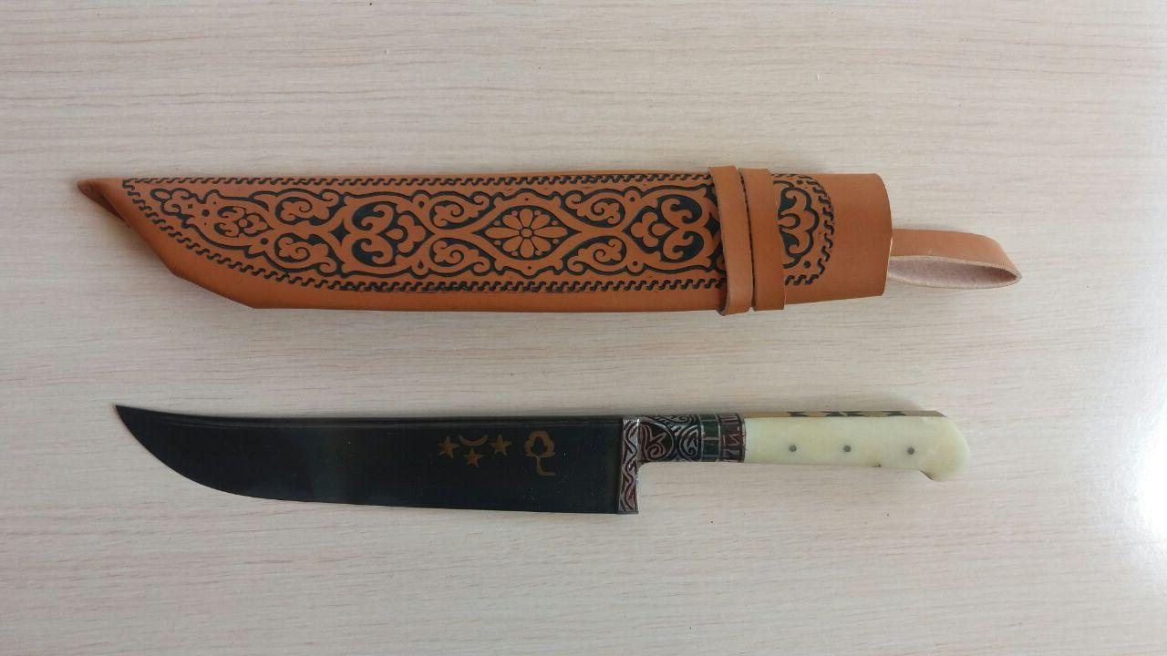 Узбекский классический нож с рукоятью из кости