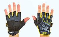 Перчатки тактические с открытыми пальцами MECHANIX BC-5628-BY