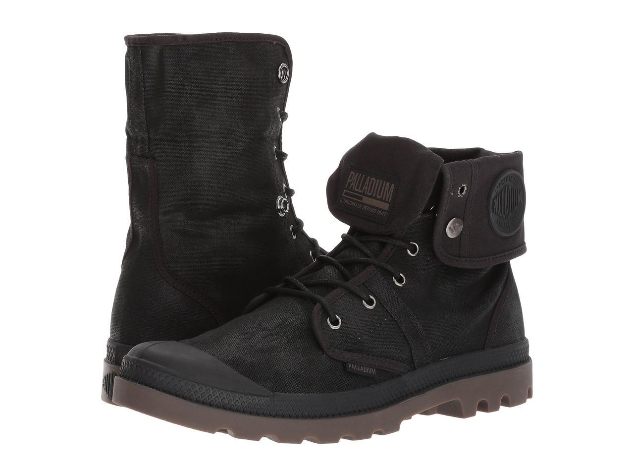 Ботинки Сапоги (Оригинал) Palladium Pallabrouse BGY Wax Black Dark ... 4c48d7d1de3a0