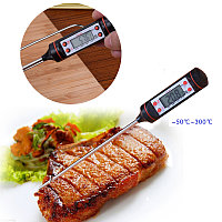 Кухонный Градусник пищевой термометр, щуп, цифровой (электронный) -50 °C до +300 °C черный, фото 1